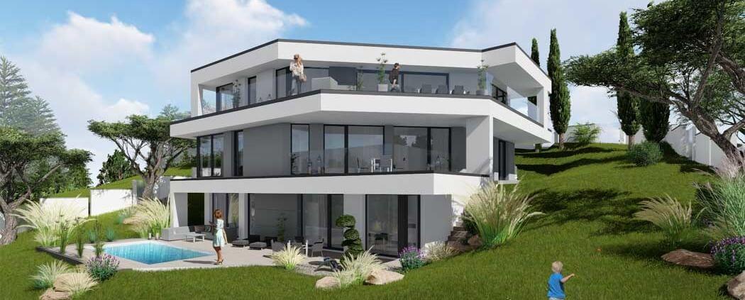 Designer-Haus-Sperrberg
