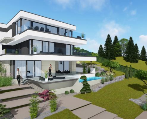 moderne Häuser wkg29-150-3