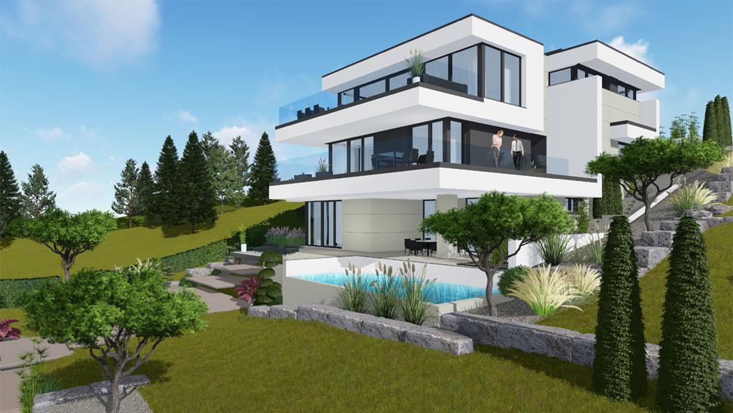 Traumhaus Mit Cubedesign In Klosterneuburg Designhaus