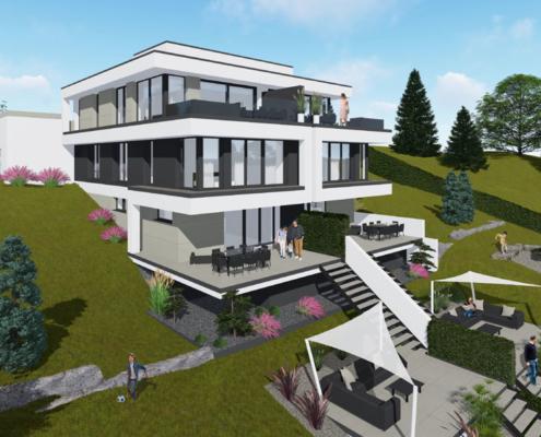 moderne häuser wkg29-d-315