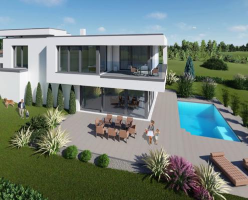 moderne Häuser Typ Rose 1-150