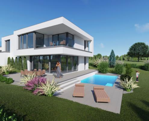 moderne Häuser Typ Rose 2-150
