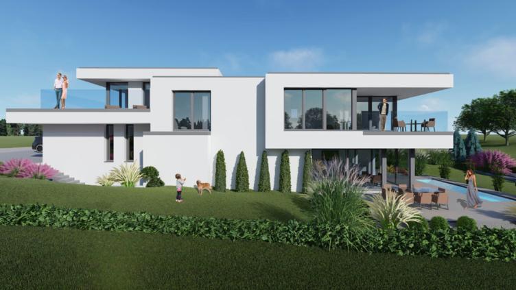 moderne Häuser Typ Rose 3-150