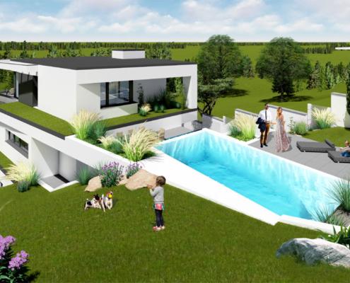 moderne Häuser von Designhaus Schillab wkg38-5