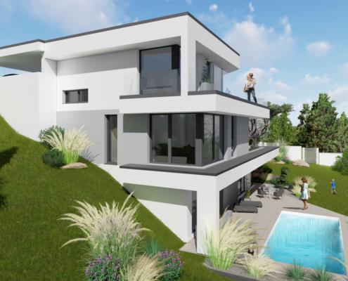 modernes Traumhaus 2kl